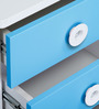 Prism Bed Side Table in Blue and White Colour by Alex Daisy