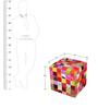 Promenade Hand-Made Cube in Multicolour Colour by The Rug Republic