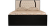 Queen Bed with Storage in Ivory Black Colour by Parin