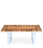 Quad Center Table in Grainy Finish by @ Home