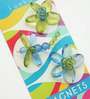 Kanhai Green & Blue Acrylic Quirly Garden Fridge Magnet - Set of 3