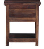 Quito Bedside Table in Provincial Teak Finish by Woodsworth