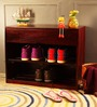 Freemont Shoe Rack in Passion Mahogany Finish by Woodsworth
