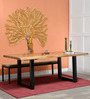 Lihir Six Seater Dining Table in Natural Sheesham Finish by Bohemiana