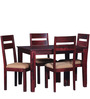 Dallas Four Seater Dining Set in Passion Mahagony Finish by Woodsworth
