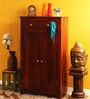 Glendale Shoe Rack with Drawer in Honey Oak Finish by Woodsworth