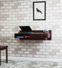 Freemont Wall Mount Study Table in Honey Oak Finish by Woodsworth