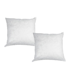 R Home White Polyester 16 X 16 Inch Cushion Inserts - Set Of 2