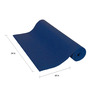 R Home Blue PVC 68 x 24 Inch Yoga Mat