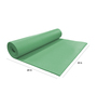 R Home Dark Green PVC 68 x 24 Inch Yoga Mat