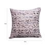 R Home Printed Cushion Cover Silver White