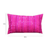 R Home Purple Silk 20 x 12 Inch Sequence Cushion Cover