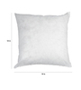 R Home White Polyester 18 x 18 Inch Cushion Inserts - Set of 2