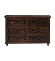Rajputana Sculpted Chest of  Six Drawers