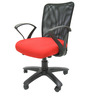 Rado Office Ergonomic Chair in Black & Red Colour by Chromecraft