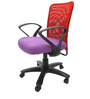 Rado Office Ergonomic Chair in Red & Purple Colour by Chromecraft