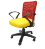 Rado Office Ergonomic Chair in Red & Yellow Colour by Chromecraft