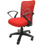 Rado Office Ergonomic Chair in Red Colour by Chromecraft