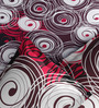 Rago Pop Red & Black Cotton Circles Bed Sheet Set (with Pillows)