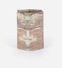 Rajrang Brown Cardboard & Handmade Paper Vintage Printed Pen Holder