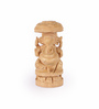Rajrang Brown Wooden Lord Ganesha Hand Carved Handicraft