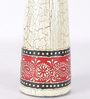 Rajrang Off White & Maroon Wooden Vintage Hand Painted Candle Holder