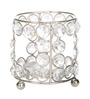 Rajrang Silver Crystal Abstract Candle Holder