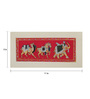 Rajrang Silk & Paper 11 x 5 Inch Native Elephant Unframed Painting