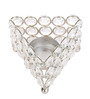 Rajrang Silver Crystal Triangle Bowl Candle Holder