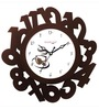 Random White & Brown Wooden Eco Numbers Wall Clock