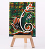 Rang Rage Canvas 8 x 1 x 6 Inch Classy Contemporary Ganesha Stretched Framed Painting with Easel Stand