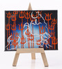 Rang Rage Canvas 8 x 1 x 6 Inch Classy Divine Shiva Stretched Framed Painting with Easel Stand