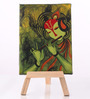 Rang Rage Canvas 8 x 1 x 6 Inch Classy Majestic Krishna Stretched Framed Painting with Easel Stand