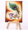 Rang Rage Canvas 8 x 1 x 6 Inch Funky Ornated Beauty Stretched Framed Painting with Easel Stand