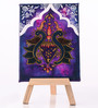 Rang Rage Canvas 8 x 1 x 6 Inch Funky Royal Retreat Stretched Framed Painting with Easel Stand