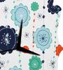 Rang Rage Colored Pool Handpainted Quaterfoil Clock
