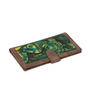 Rangrage Ajanta Tales Canvas & Leatherette Green Passport Holder