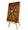 Rang Rage Multicolor Wooden Artistic Compass Table Clock