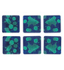 Rang Rage Hand-Painted Droplets Multicolour Wooden Coasters - Set of 6