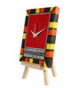 Rang Rage Red Wooden Warli Twist Table Clock