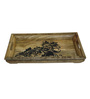 Rang Rage Handpainted Curved Indian Wood Tray
