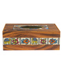 Rang Rage Handpainted Incredible Madhubani Multicolour Wood Tissue Box