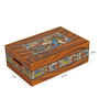 Rang Rage Handpainted Incredible Madhubani Wood & Terracotta 200 ML Kulhads with Tray - Set of 6