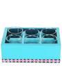 Rang Rage Minimlaistic Azure Mango Wood Tray with Shot Glasses