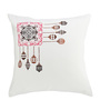 Rang Rage Multicolour Cotton 16 x 16 Inch Hand-Painted Designer Cushion Cover