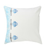 Rang Rage Azure Cotton 16 x 16 Inch Hand-Painted Frame Cushion Covers - Set of 2