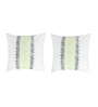 Rang Rage Green Cotton 16 x 16 Inch Hand-Painted Regal Cushion Covers - Set of 2