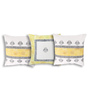 Rang Rage Multicolour Cotton 16 x 16 Inch Hand-Painted Royal Cushion Covers - Set of 3
