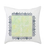 Rang Rage Lime Cotton 16 x 16 Inch Handpainted Frame Cushion Cover