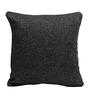 Rang Rage Charcoal Jute 16 x 16 Inch Hand-Painted Cushion Cover